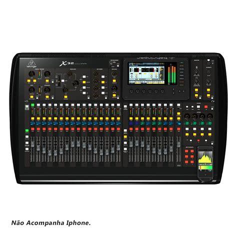 mesa de som digital  canais  auxiliares usb behringer