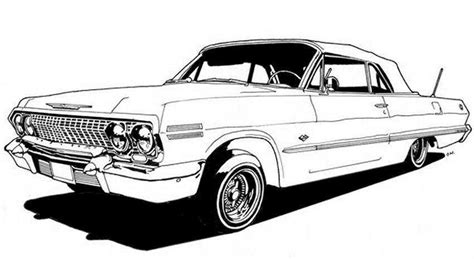 coloring pages lowrider cars free impala 64 coloring pages