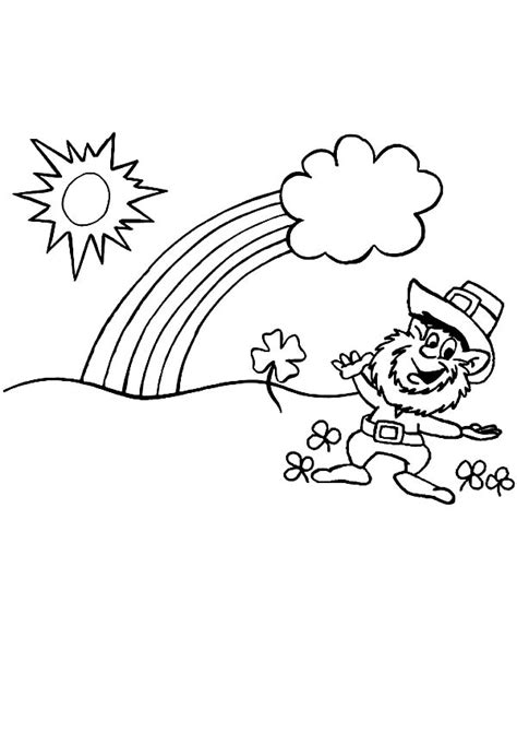 gold star coloring page rainbow and pot of gold coloring pages and leprechaun