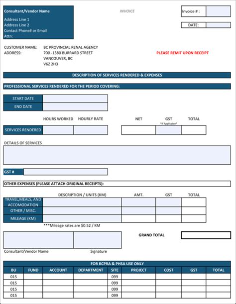 contractor invoices templates sle contractor invoice template hardhost info