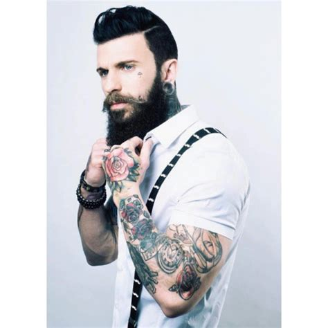 suspender tattoo beards suspender