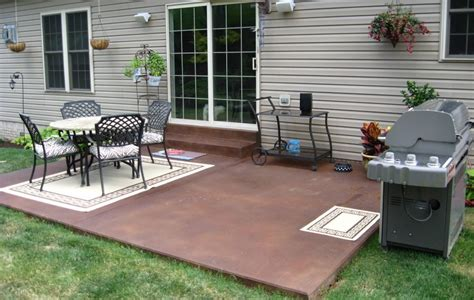 Backyard Concrete Patio Ideas Concrete Patio Designs Color Outdoor Furniture Attractive And Concrete Patio Designs