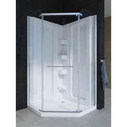 Mirolin Shower Door Parts Mirolin 42nadrs Corner 42 Quot Neo Angle Door Raindrop Silver Home Comfort Centre