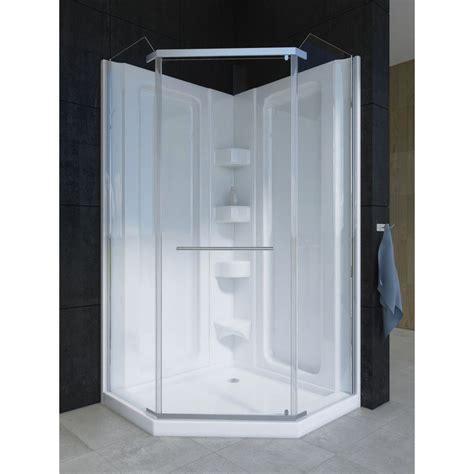 Mirolin Shower Door Parts Mirolin 42nadrs Corner 42 Quot Neo Angle Door Raindrop Silver Home Comfort Centre