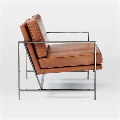 stuhl wildleder metal frame leather chair west elm