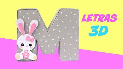 como decorar letras de madera de unicornio c 243 mo hacer letras 3d de cart 211 n para decorar o regalar d 237 a