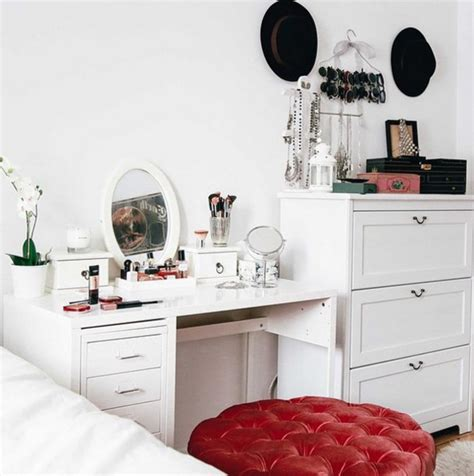 Makeup Decor by Home Accessory Home Decor Makeup Table White