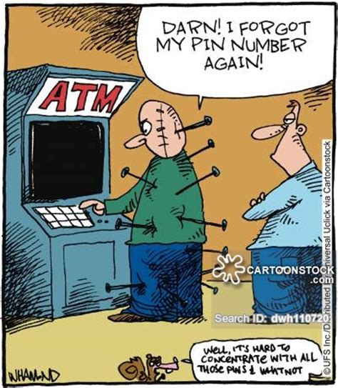 forgot my bank card pin pin numbers and comics pictures from