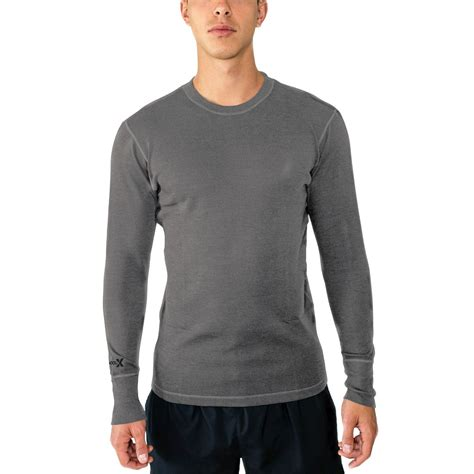 Layer Sleeved Top Blackbeigewhite Sml mens merino wool base layer top midweight merino base layer for