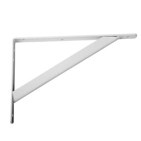 everbilt 11 25 in x 1 05 in white shelf bracket hd 0494