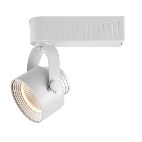 Dimmable Led Track Lighting Fixtures Hton Bay White Dimmable Led Gimbal Track Lighting Fixture 1015 Wh The Home Depot