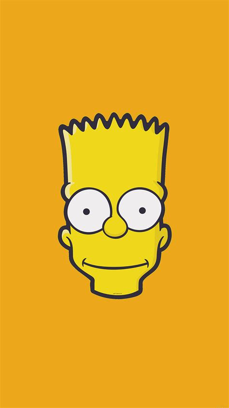 aj bart face art illust yellow simpsons minimal simple