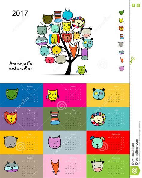 funny bees calendar 2017 design stock vector image 81720022 funny animals calendar 2017 design stock vector image
