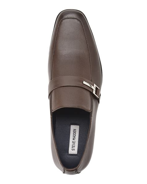 steve madden brown loafers steve madden brown seemore loafers in brown for lyst