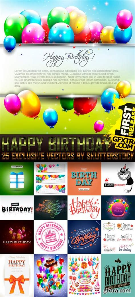 template after effects happy birthday happy birthday 25xeps 187 vector photoshop psd template