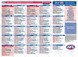 afl footy card template afl fixture card printing nrl afl season available