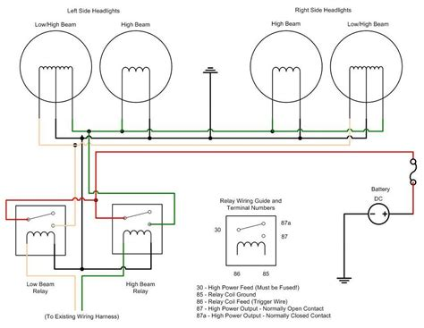wiring headlight relays