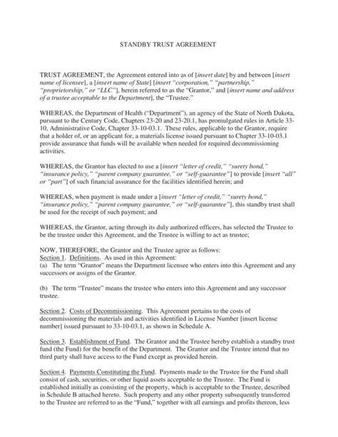 13 Trust Agreement Templates Pdf Free Premium Templates Fiduciary Agreement Template