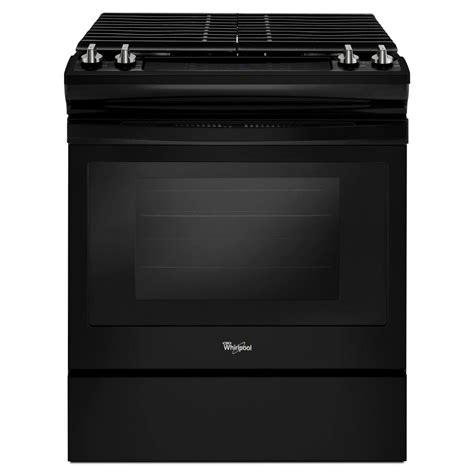 whirlpool gas range reviews whirlpool 30 in 5 0 cu ft slide in gas range in black