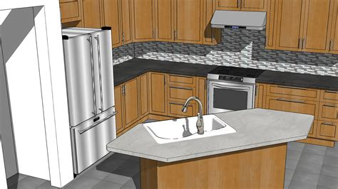 sketchup kitchen layout sketchup kitchen design