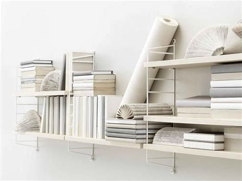 white wall mounted shelving unit for books decofurnish