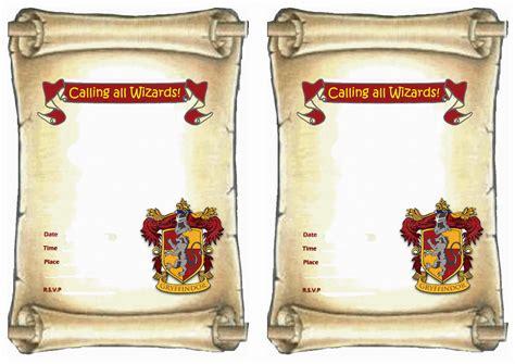 images  harry potter invitation printables