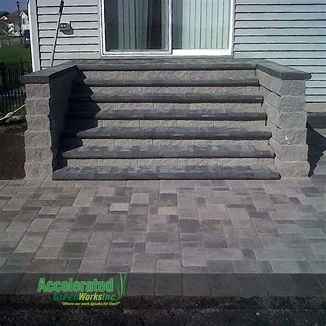 Patio Door Steps Colors Stairs And Patio On