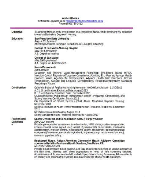 Telemetry Resume Objective Telemetry Rn Resume