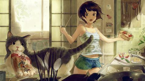 wallpaper cat anime cute anime cats wallpaper