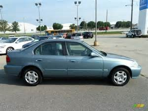 iced teal pearl 1999 honda civic ex sedan exterior photo
