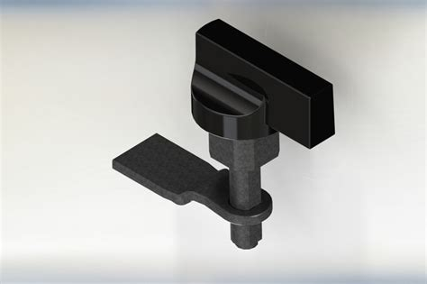 assemblie knob locker door solidworks  cad model