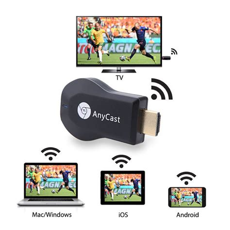 Anycast Wifi Display Receiver Dongle Wireless Hd Cast Tv anycast m4 plus wireless wifi display dongle receiver 1080p hdmi media streamer tv stick