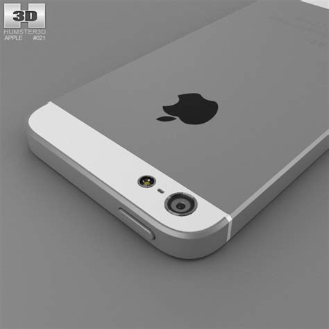 apple iphone 5 white 3d model hum3d