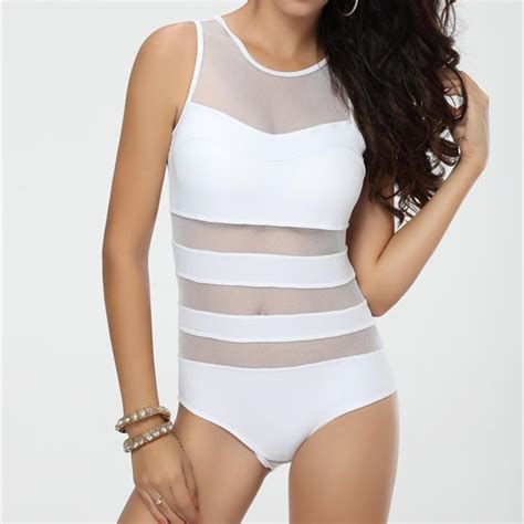 white black dress transparent one swimwear swimsuit tank top bathing suit