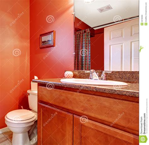 red bathroom cabinets red bathroom corner with a washbasin cabinet stock photo image of american modern