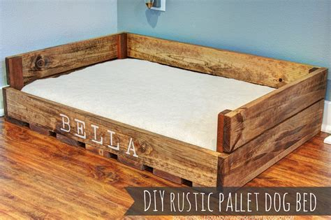 how to make a dog bed out of pallets love this so easy to make diy rustic dog bed made from