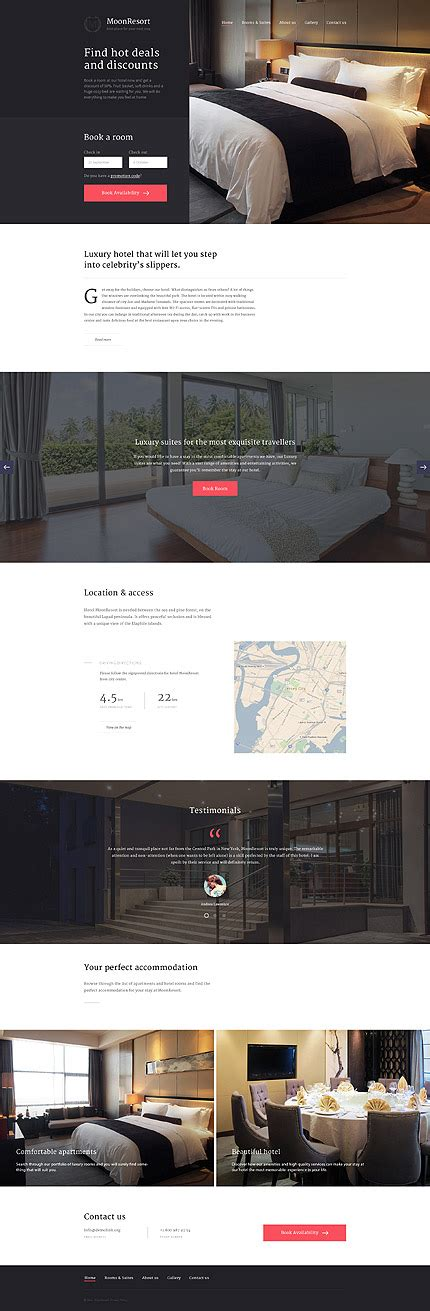 javascript layout templates hotels type website templates template 58330