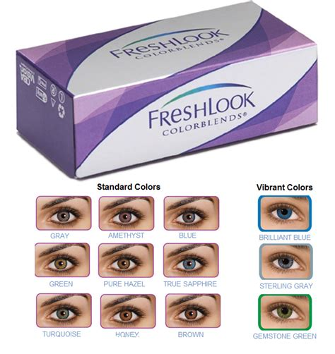 fresh look color blend contacts discount price freshlook colorblends contacts lenses 6pk