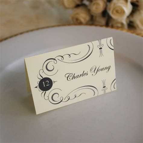 fancy place cards templates place card template print