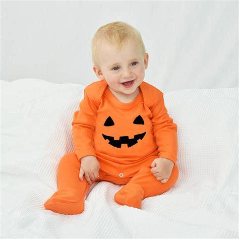 Jumper Sleepsuit pumpkin baby romper sleepsuit by ellie ellie notonthehighstreet