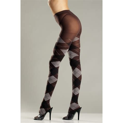 brown patterned tights brown argyle patterned pantyhose preppy schoolgirl tights