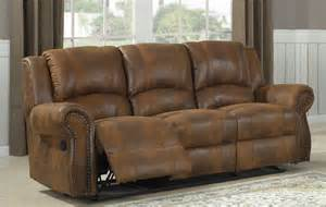 Microfiber Leather Sofa Homelegance Quinn Reclining Sofa Bomber Jacket Microfiber 9708bj 3