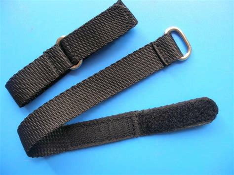 Watch Band Nylon Sport Strap Black Adjustable Velcro   HZ 6011   HUAZHENG (China Trading Company