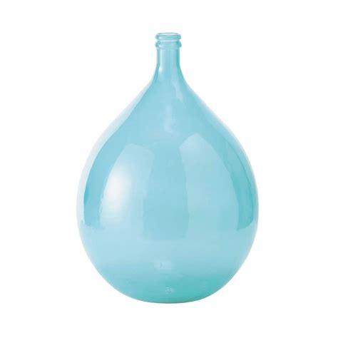 vase dame jeanne en verre bleu h 56 cm skadi maisons du monde