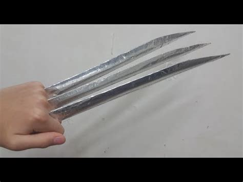 How To Make A Paper Wolverine - easy to make wolverine s adamantium claws vidoemo