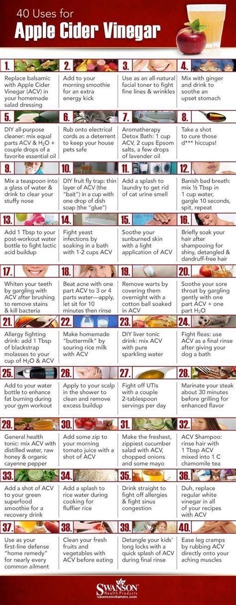 40 ways to use apple cider vinegar common sense evaluation