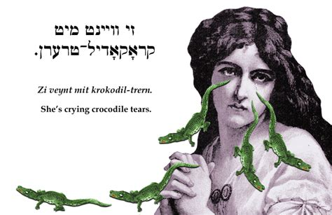 Mami's Shit: Zi veynt mit krokodil-trern