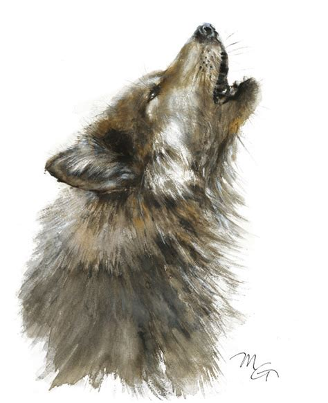 watercolor wolf tutorial wolf watercolor painting giclee print home wall decor