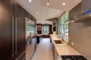 contemporary woodharbor galley kitchen contemporary modern green galley kitchen designs 2014 trend home