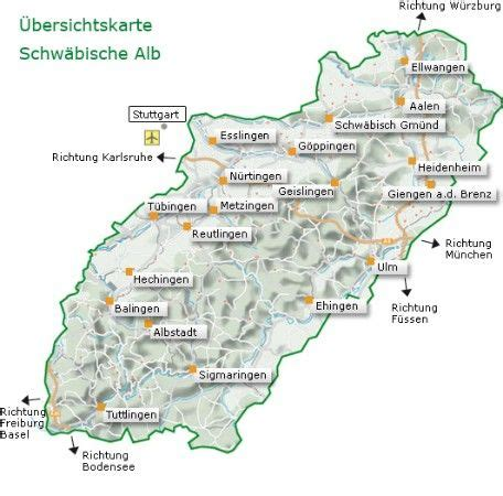 Motorradtour Ostalb by 220 Bersichtskarte Schw 228 Bische Alb Schw 228 Bisch Isch Die